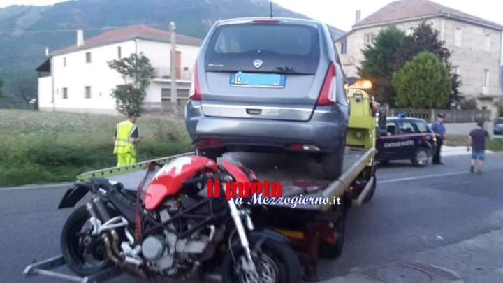 Incidente mortale a Posta Fibreno, schianto tra auto e moto muore 25enne di Broccostella