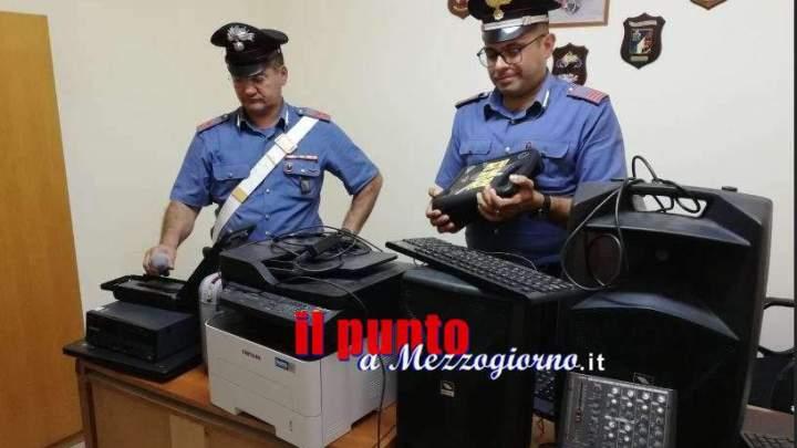 Furto nella palestra a Sant'Elia, i carabinieri individuano i ladri e recuperano gli strumenti