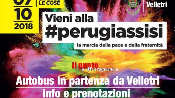 Velletri partecipa alla Marcia delle Pace Perugia-Assisi, il Comune mette a disposizione un autobus