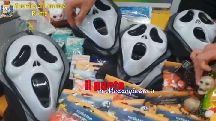 Salva Halloween, sequestrati 3 milioni di articoli contraffatti e rischiosi