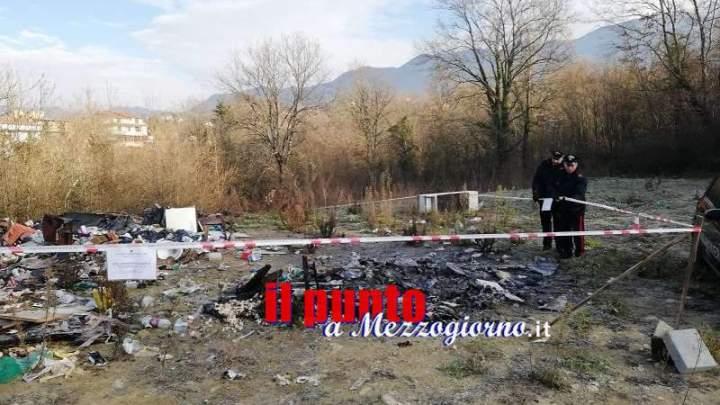Discarica abusiva e combustione di rifiuti, denunciati a Cervaro padre e figlia