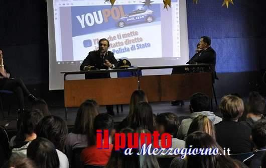 """Frosinone; a scuola con """"YouPol"""", l'innovativa app della Polizia di Stato"""