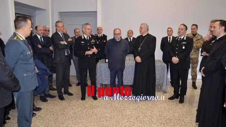 Cassino, il gen. Rispoli visita la sede della nuova caserma dei carabinieri nell'ex Rettorato