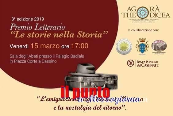 """III edizione del Premio Letterario """"Le storie nella storia"""". Nella Sala degli Abati la premiazione"""