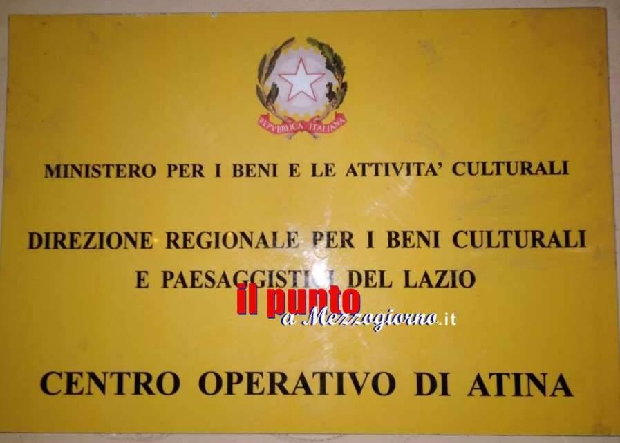 Il Ministero dei Beni Culturali lascia Atina