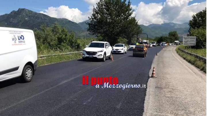 Via ai lavori di sistemazione del manto stradale sulla SSV Sora-Cassino