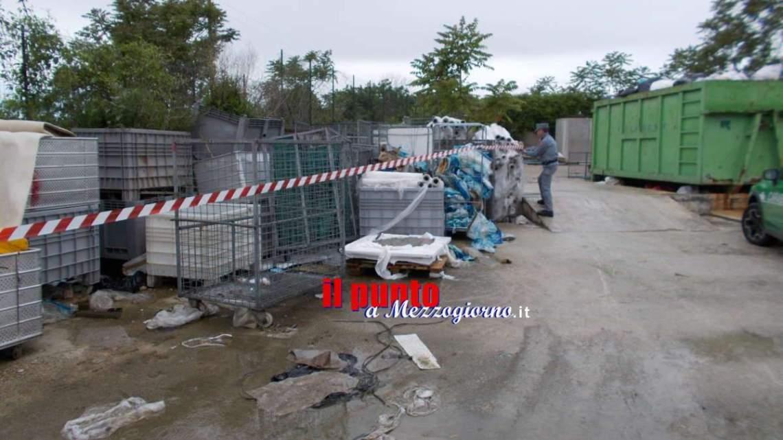 Area con rifiuti pericolosi sequestrata nella Valle del Sacco