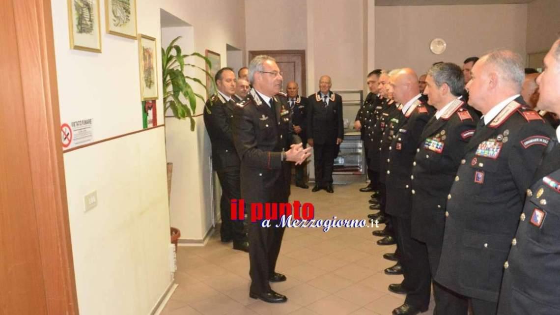 Il generale Andrea Rispoli in visita al comando provinciale dei carabinieri di Frosinone