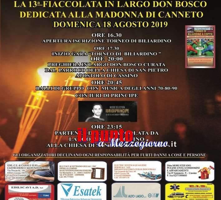 Cassino – Domenica 18 agosto fiaccolata dedicata alla Madonna di Canneto
