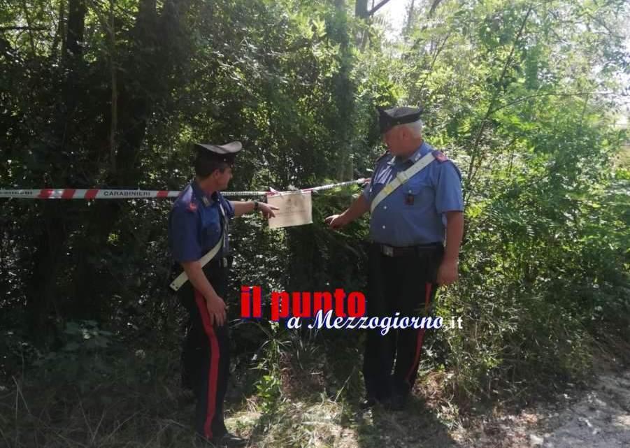 Cervaro, scoperta e sequestrata dai carabinieri una discarica abusiva su terreno comunale
