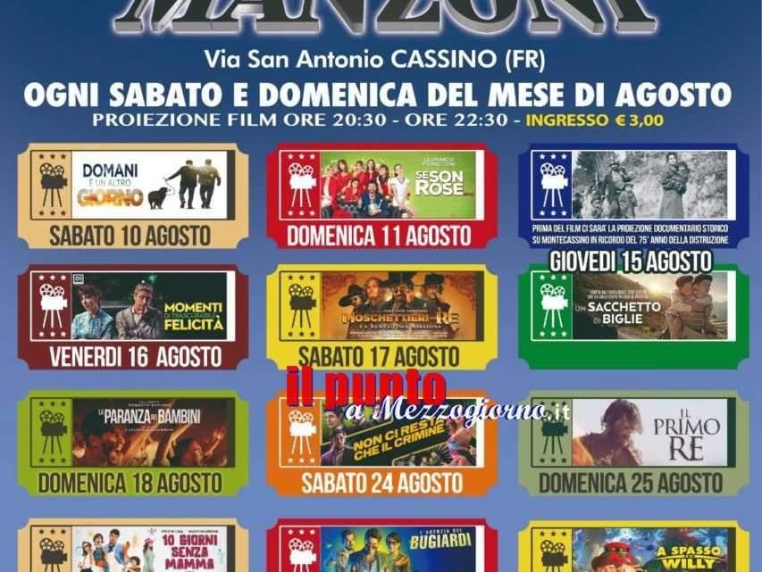 Il cinema torna a Cassino, ogni fine settimana proiezioni in via Sant'Antonio