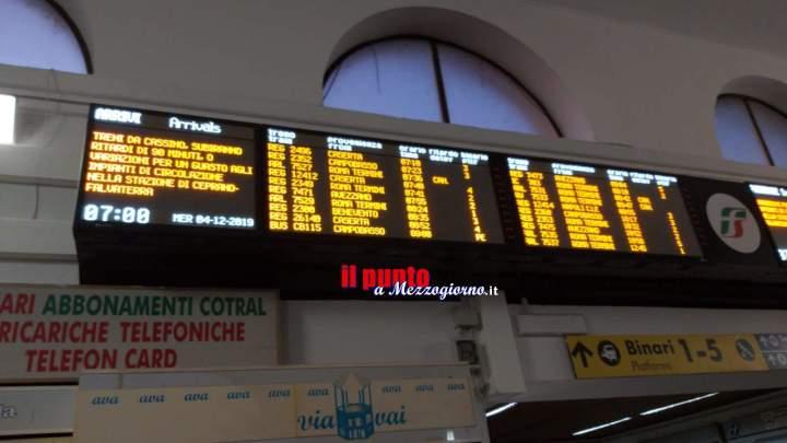 Ritardi di oltre un'ora sulla linea ferroviaria Roma Cassino