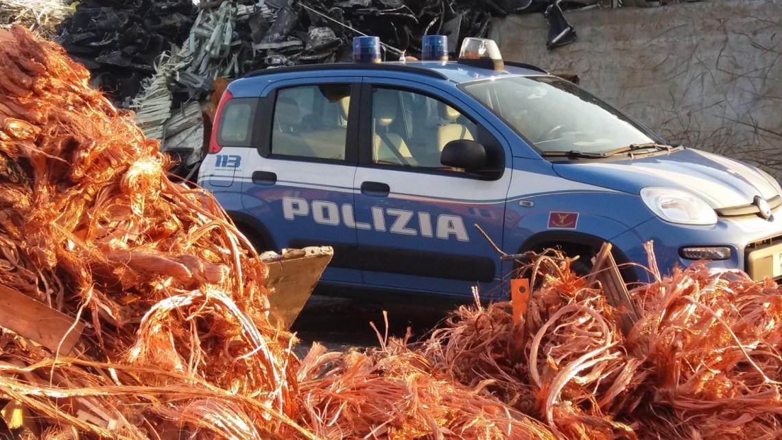 """Frosinone: Polfer a caccia di rame rubato, trovati a Sora 150 chili di """"oro rosso"""""""