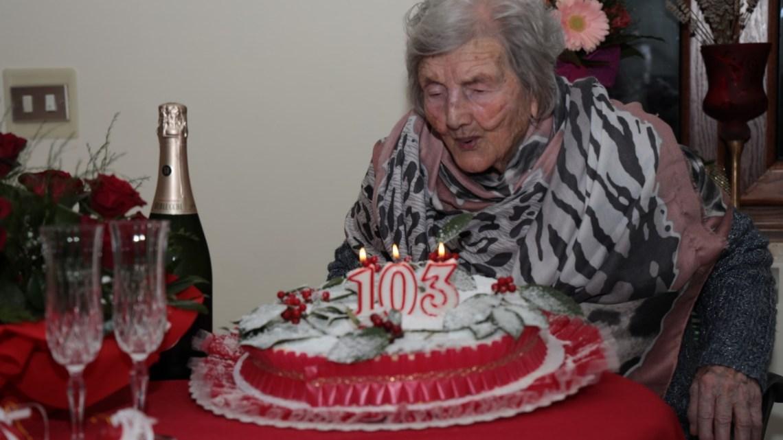 Nonna Silvia, la cittadina più longeva di San Potito Sannitico compie 103 anni