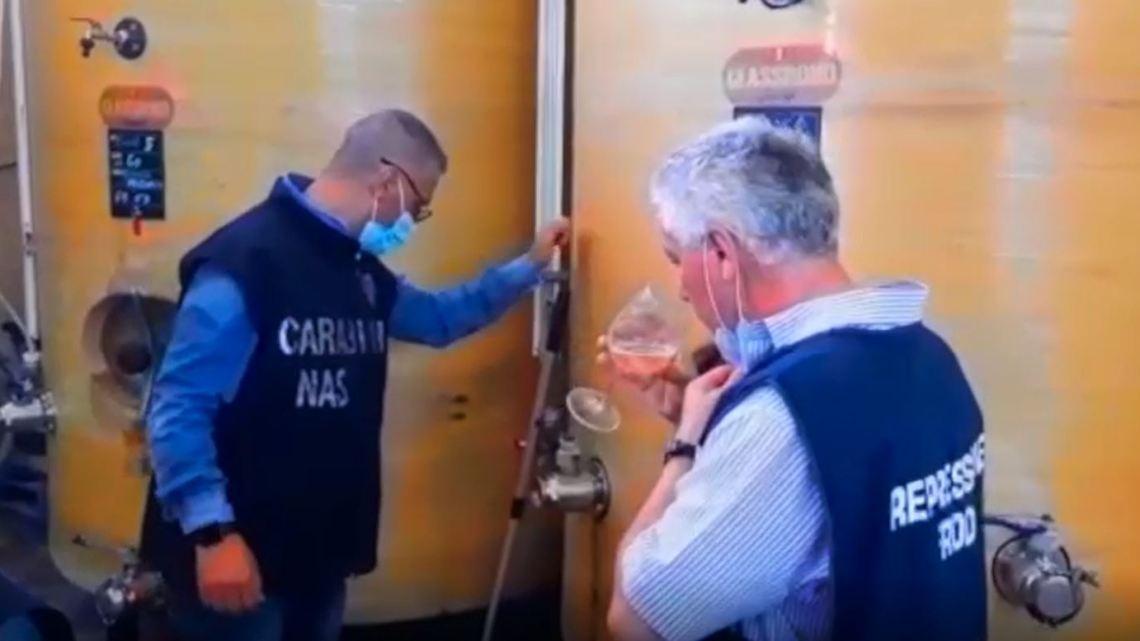 """Azienda del vino Dop """"tarocco"""" a Tivoli, sequestrati 3mila litri e denunciate 5 persone"""