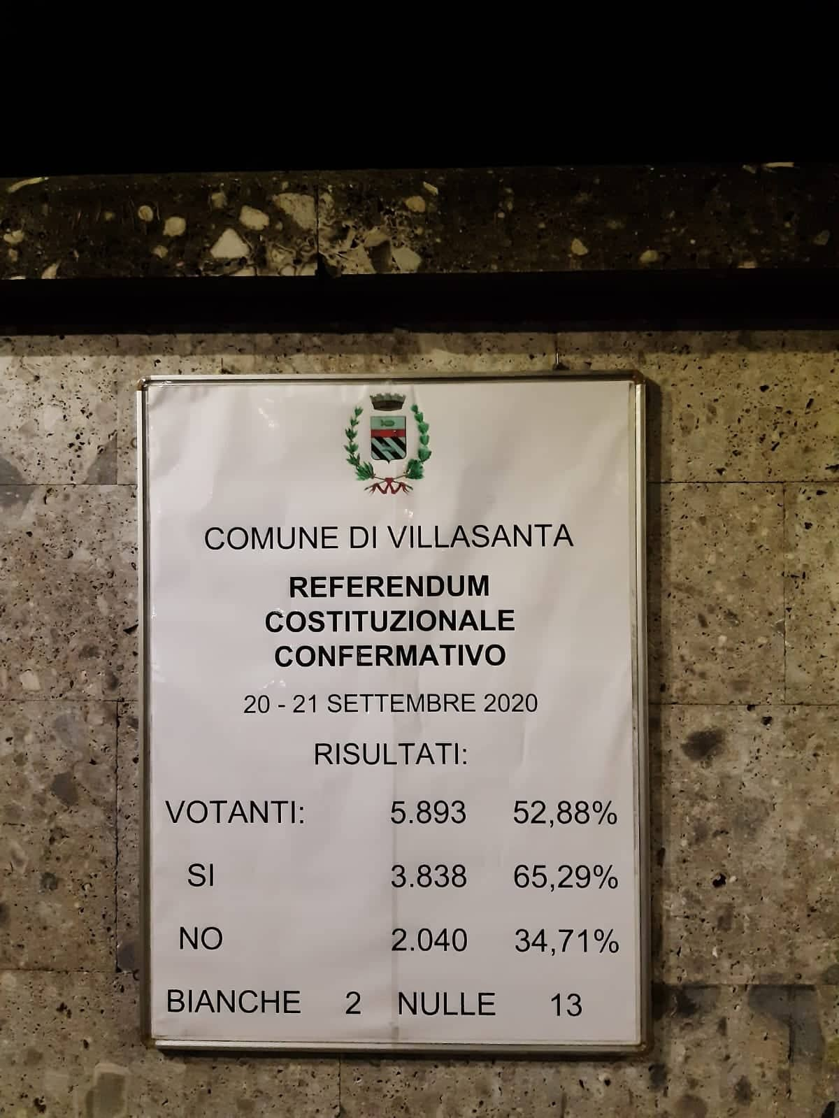 """Anche a Villasanta vince il """"Si"""""""