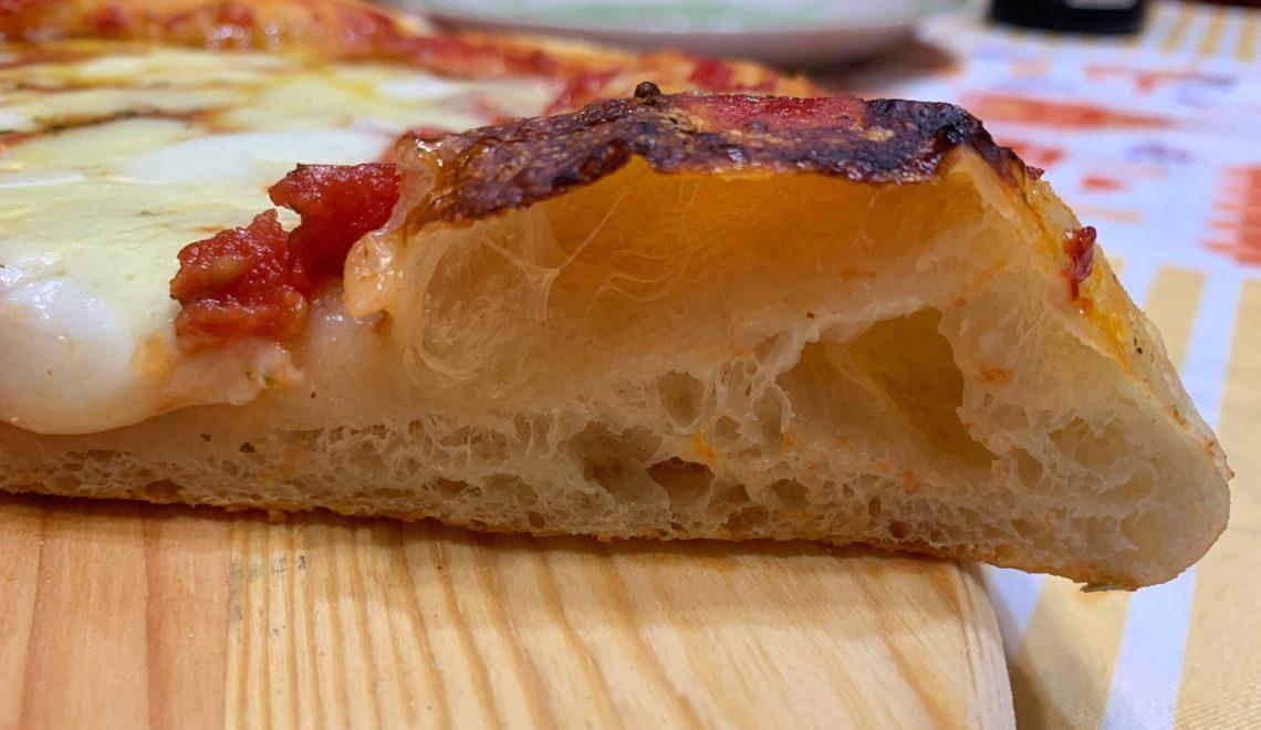 Pizza in teglia idratazione 100%