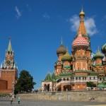 モスクワ、ロシアの聖バジル大聖堂