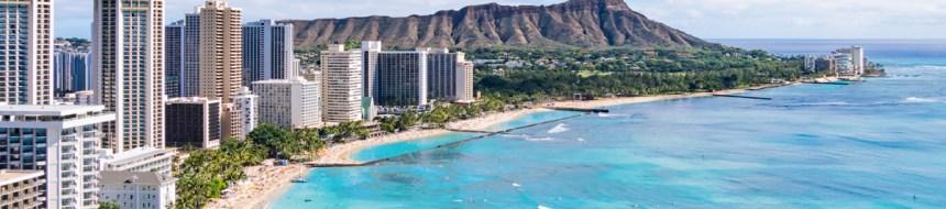 ハワイ ダイヤモンドヘッドの景色
