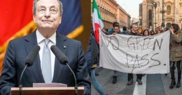 Rinviata la rivoluzione sul Green pass obbligatorio: Draghi sgonfia la piazza i no vax