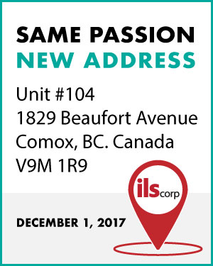 Same Passion, new address. We are moving the office to Unit #140, 1829 Beaufort Avenue Comox, BC, Canada, V9M 1R9 on December 1, 2017