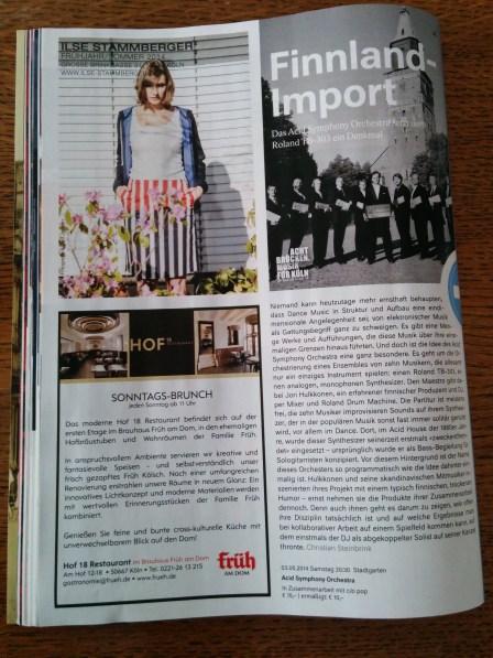 Ilse Stammberger in der Mai/Juni Ausgabe des Magazins der Kölner Philharmonie