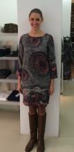 Kleid gemustert grau