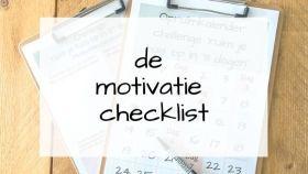 motivatie checklist
