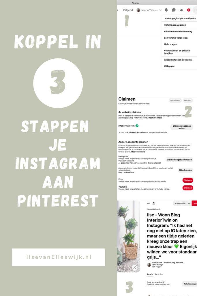 stappenplan instagram koppelen pinterest