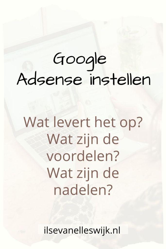 google adsense instellen