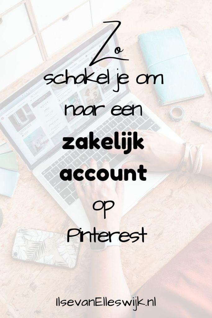 schakel om zakelijk account pinterest