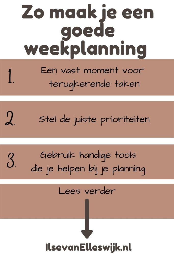 goede weekplanning maken