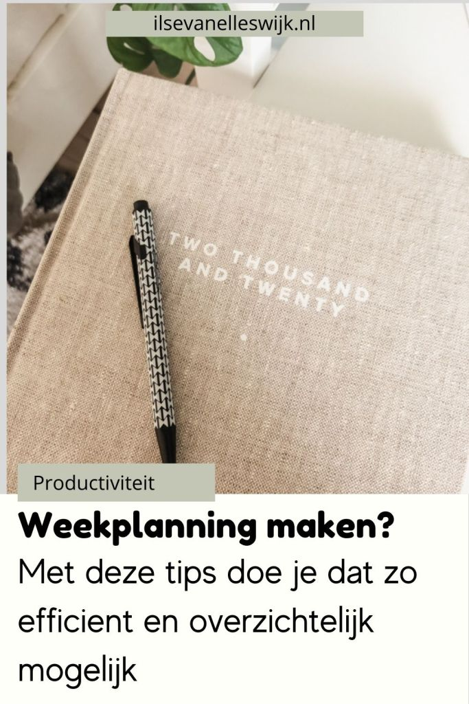 tips weekplanning maken
