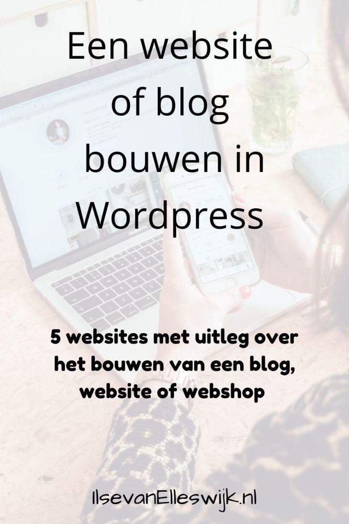 website of blog bouwen in wordpress