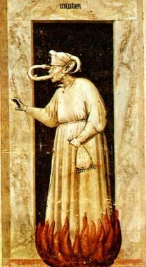 Giotto, l'Invidia - Padova, cappella degli Scrovegni