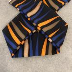 Fascia strisce blu e arancio bimba