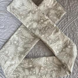 Fascia adulto grigio floreale