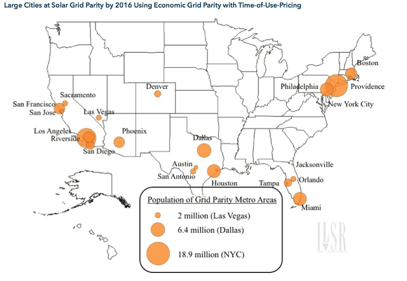 Large Cities at Grid Parity by 2016