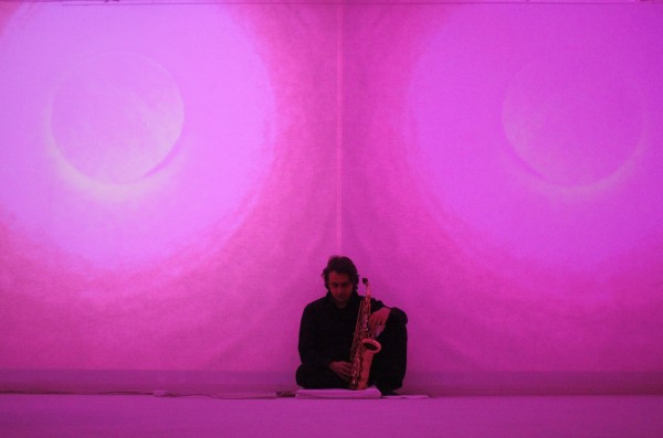 Della Marina - Zucchi, A Place to Play, live sound installation at Spazioersetti, 2015 - photo Lara Carrer