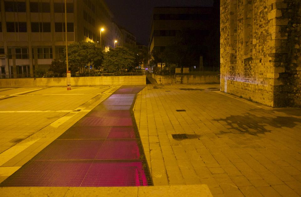 Il Suono in Mostra 2016 - Paulo Raposo (PT) - Rovine - grate del parcheggio di Piazza Venerio - photo: Lara Carrer
