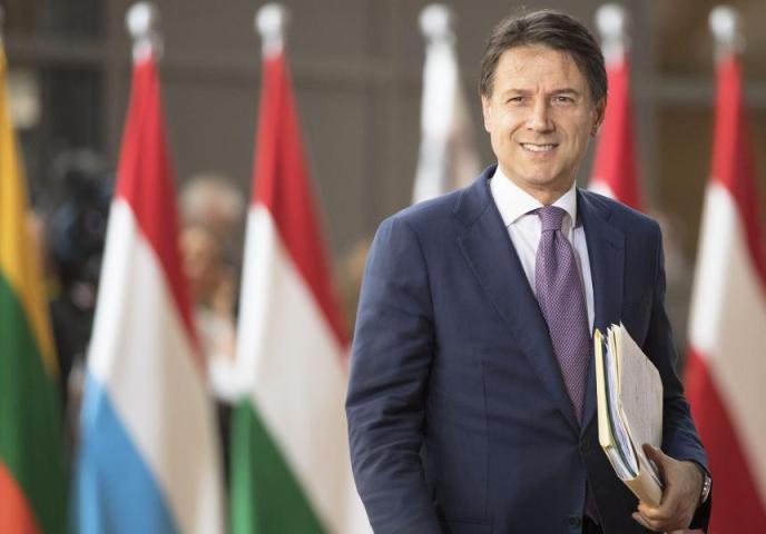 Giuseppe Conte, premier della Repubblica Italiana.