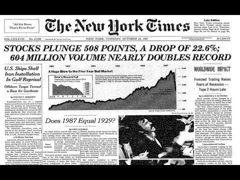I cani offrono occasione per parlare del Black Monday del 1987: ecco cosa è successo.