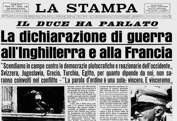 """Il 10 giugno 1940 l'Italia dichiarava guerra: ripercorriamo cosa ha portato a questa decisione """"irrevocabile"""""""