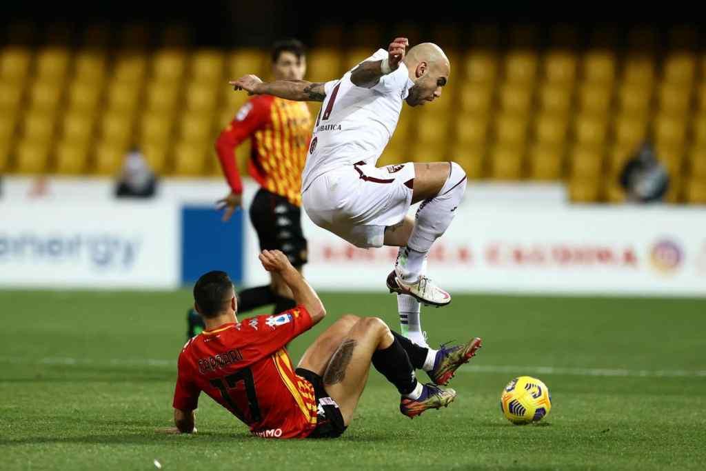 Benevento 2-2 Toro: i granata la riprendono nel finale