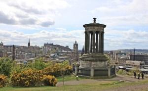 Vista Edimburgo da Calton Hill