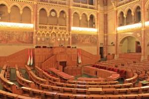 Sala delle sessioni Parlamento di Budapest