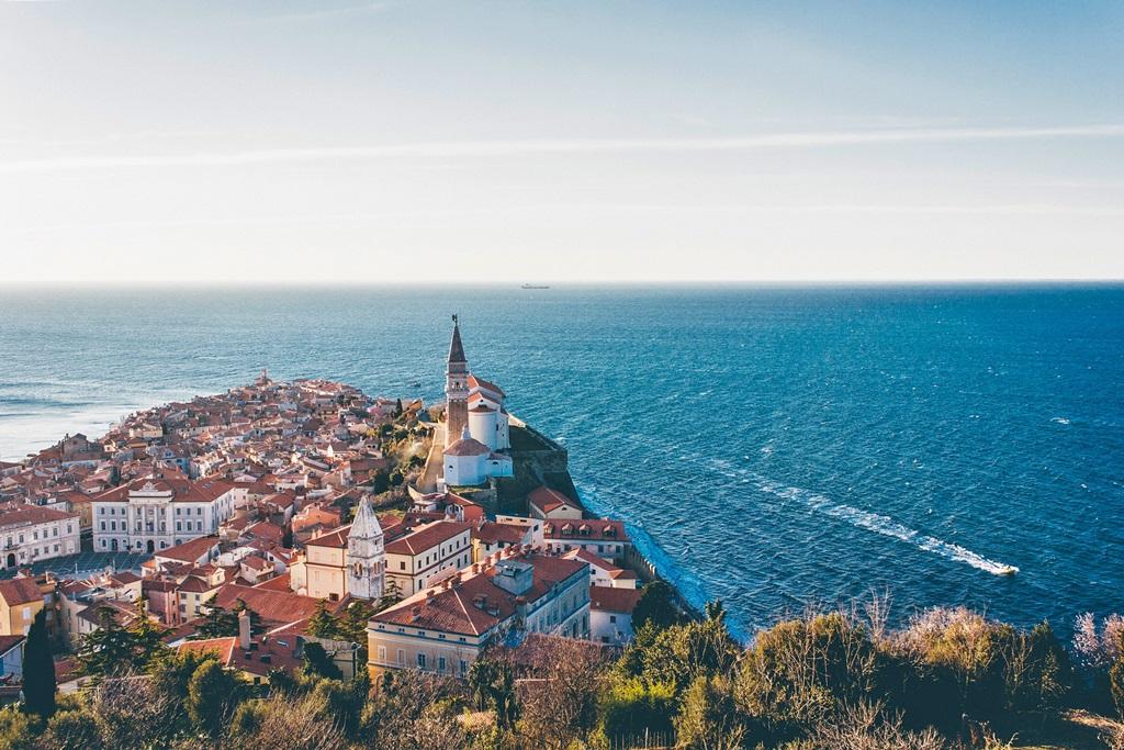 Panorama di Pirano Portorose Slovenia