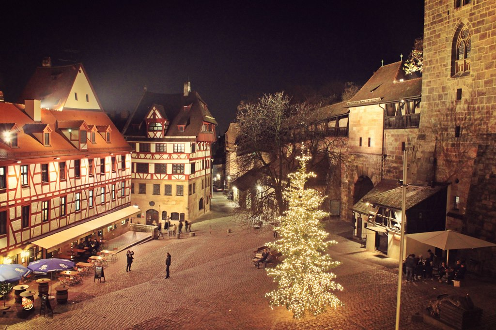 Castello Norimberga a Natale