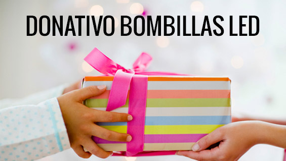 Donativo de bombillas LED