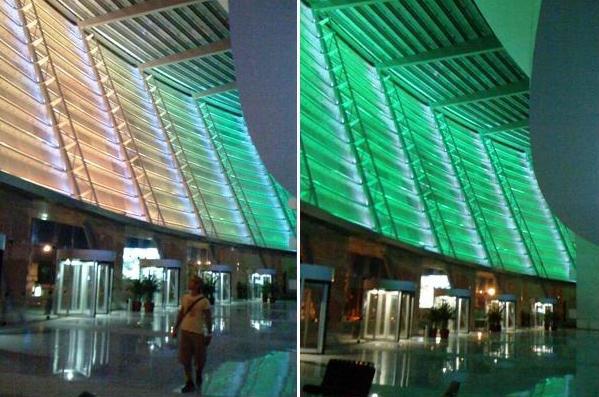 Por dentro del inmueble no se aprecia la fuente de luz de la pantalla de LEDs
